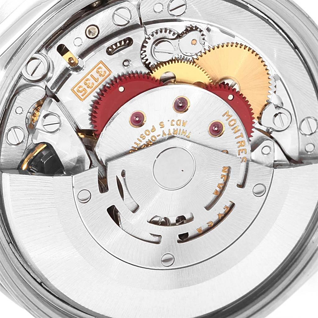 Rolex Date Silver Baton Dial Oyster Bracelet Mens Watch 15210 SwissWatchExpo