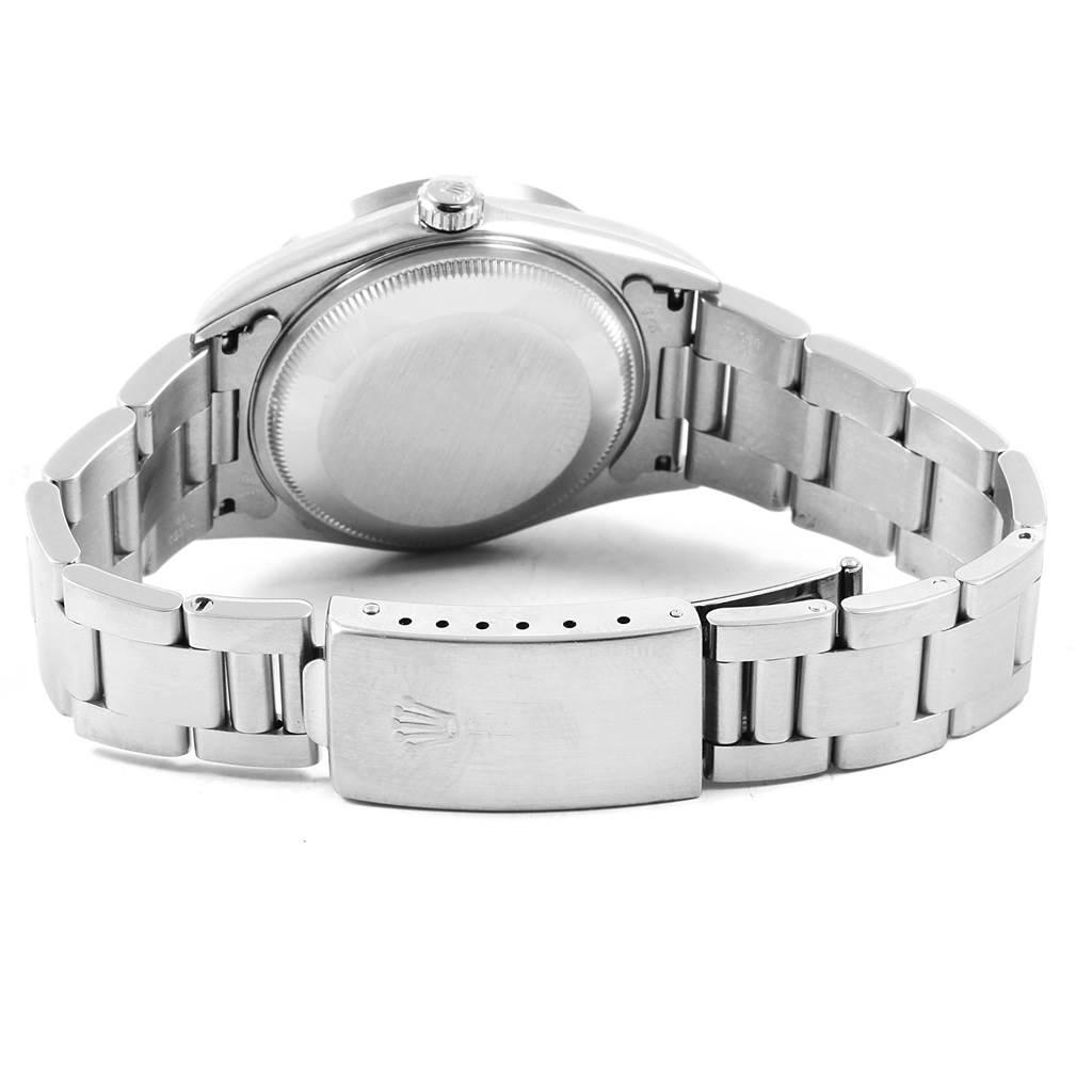 Rolex Date Black Dial Oyster Bracelet Mens Watch 15210 SwissWatchExpo