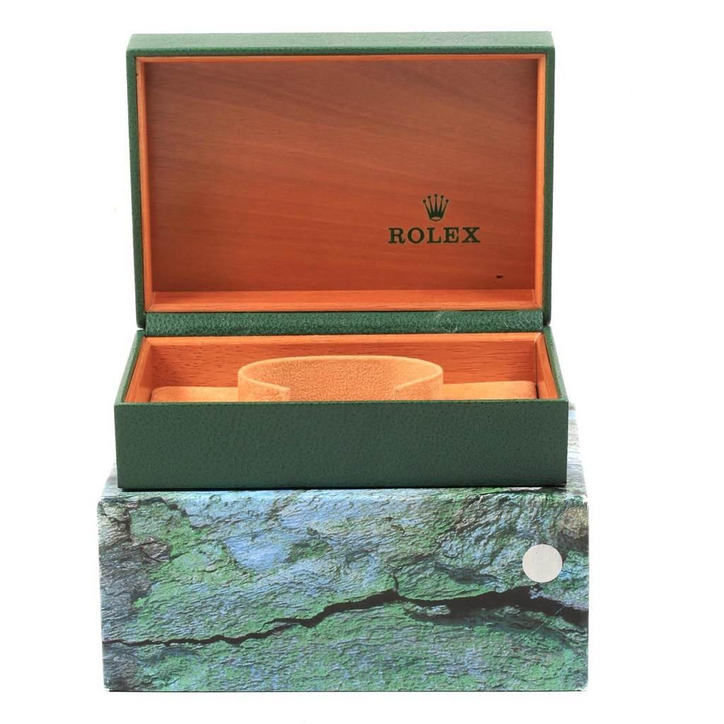 20853 Rolex Date Black Dial Oyster Bracelet Mens Watch 15210 SwissWatchExpo