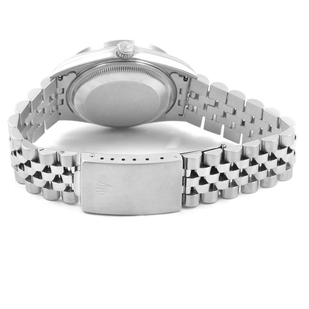 20668 Rolex Date Silver Baton Dial Jubilee Bracelet Mens Watch 15210 SwissWatchExpo