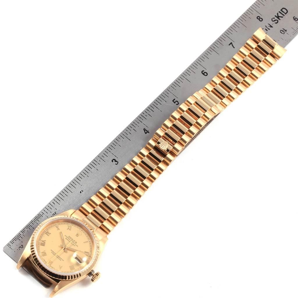 21064 Rolex Date 18k Yellow Gold Roman Dial Automatic Mens Watch 16238 SwissWatchExpo