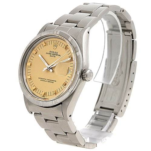 2442 Rolex Date Mens Ss Champagne Dial Watch 15010 - Great SwissWatchExpo