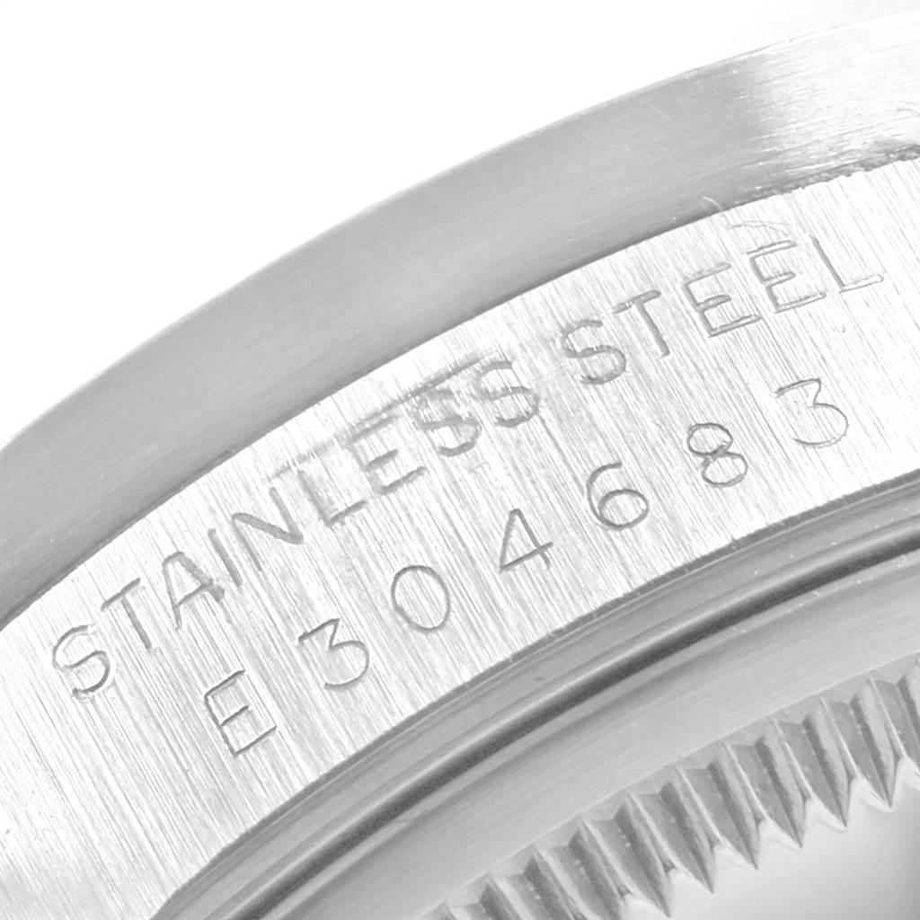 21271X Rolex Date Silver Dial Oyster Bracelet Steel Mens Watch 15210 SwissWatchExpo