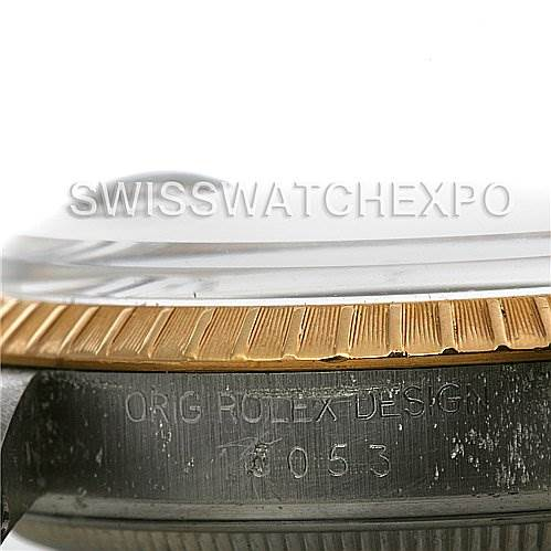 2311 Rolex Date Mens Ss 18k Gold Silver Dial 15053 SwissWatchExpo