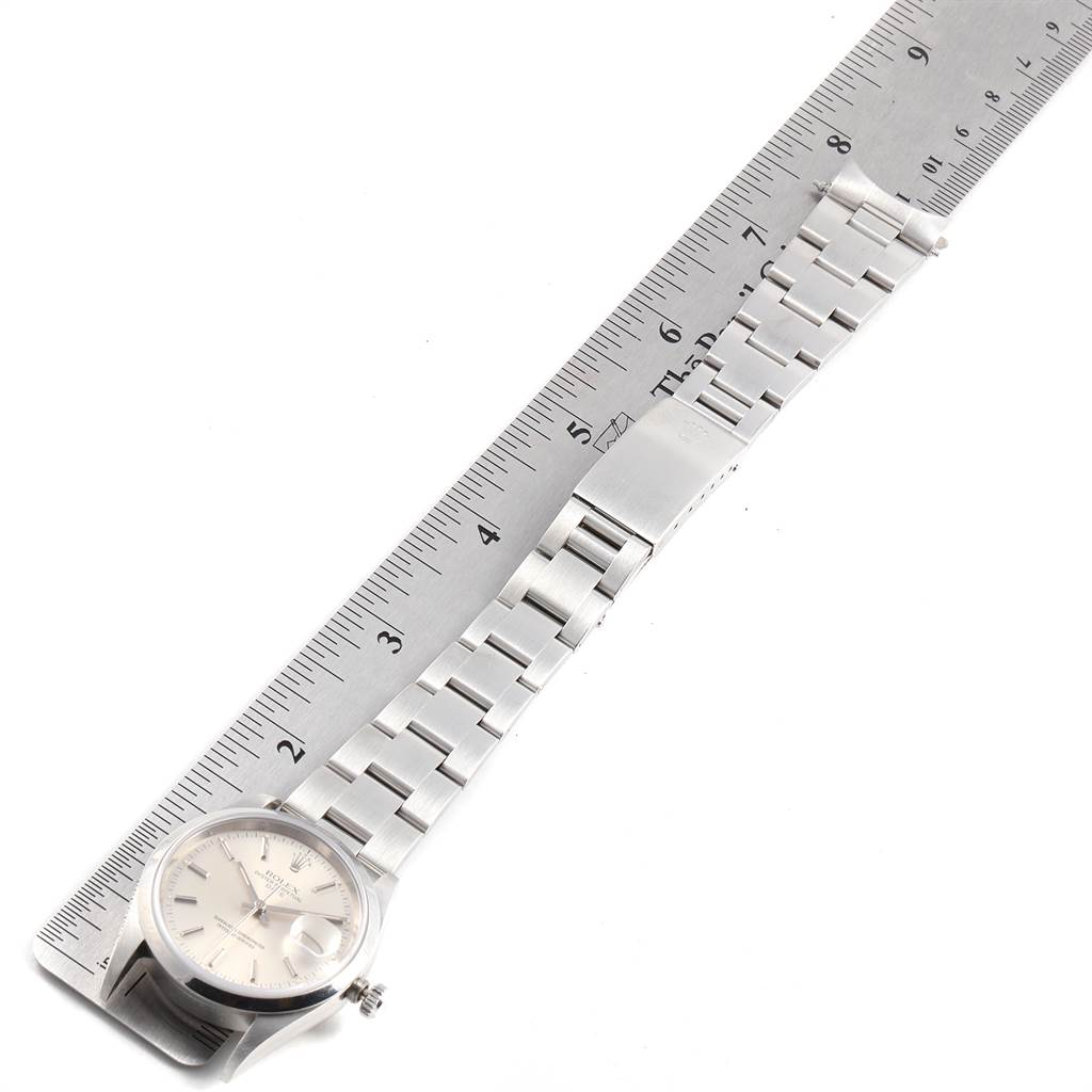 Rolex Date Silver Dial Oyster Bracelet Automatic Mens Watch 15200 SwissWatchExpo