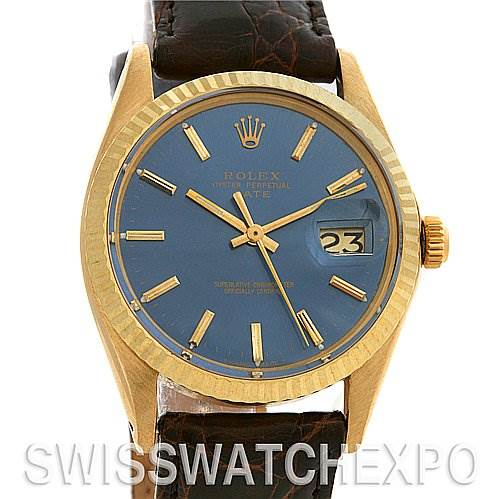 2565 Rolex Date 1503 Mens 14k Yellow Gold Watch Year 1969 SwissWatchExpo