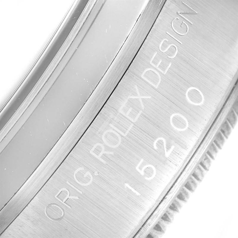 Rolex Date Blue Arabic Dial Steel Mens Watch 15200 Box SwissWatchExpo