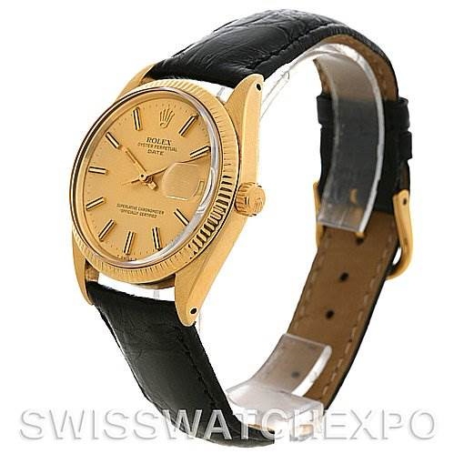 Rolex Date 1503 Mens 14k Yellow Gold Watch Year 1979 SwissWatchExpo
