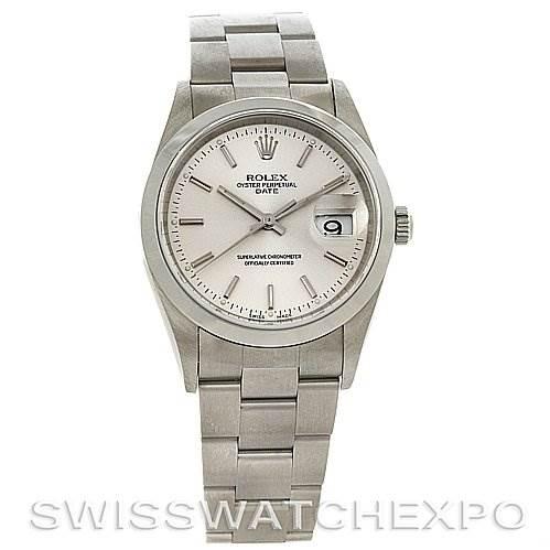 2778 Rolex Date Mens Ss Watch 15200 Year 2002 Unworn NOS SwissWatchExpo