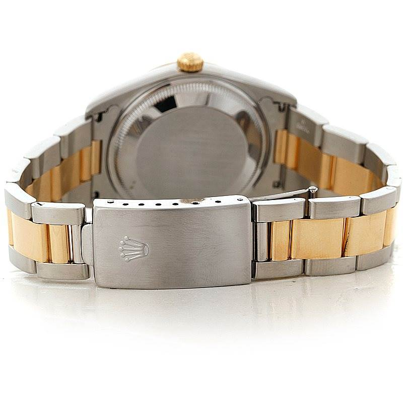 8259 Rolex Date Steel 18k Yellow Gold Slate Dial Mens Watch 15203  SwissWatchExpo