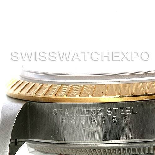 3000 Rolex Date Men's Steel and 18k Yellow Gold Watch 15223 SwissWatchExpo