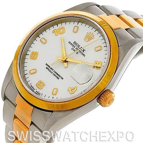Rolex Date Steel 18k Yellow Gold 15203 Unworn NOS SwissWatchExpo