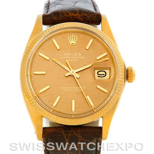 Photo of Vintage Rolex Date 1503 Mens 14k Yellow Gold Watch