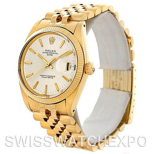 Rolex Date 1503 Mens 14k Yellow Gold Vintage Watch SwissWatchExpo