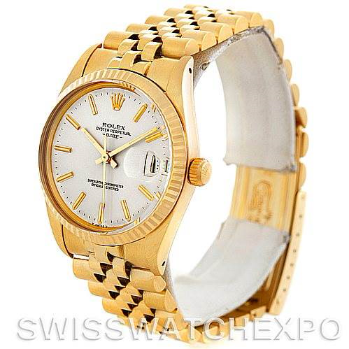 Rolex Date 1503 Mens 14k Yellow Gold Vintage Watch SwissWatchExpo