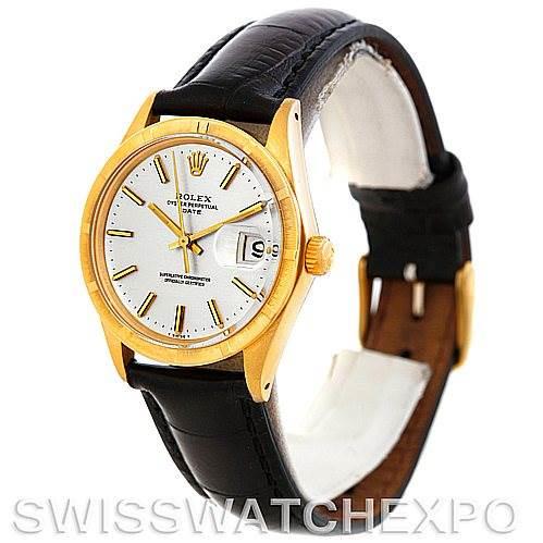 Vintage Rolex Date Mens 14k Yellow Gold Watch 1501 SwissWatchExpo