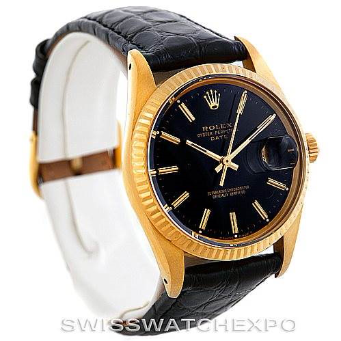 Rolex Date 15037 Mens 14k Yellow Gold Vintage Watch SwissWatchExpo