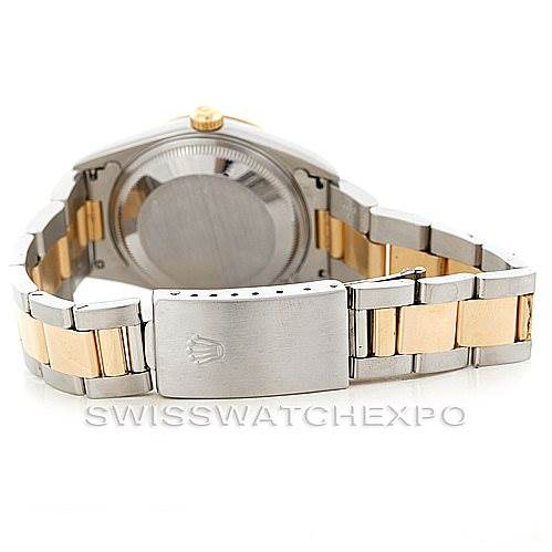 6495 Rolex Date Mens Steel and 18k yellow Gold Watch 15223 SwissWatchExpo