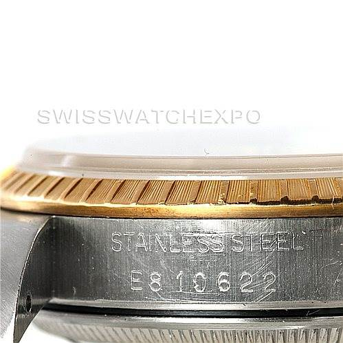 7879 Rolex Date Mens Steel and 18k Yellow Gold Watch 15223 SwissWatchExpo