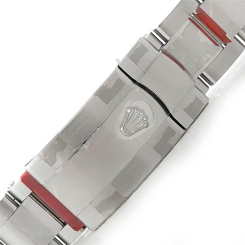 Rolex Date Steel Silver Dial Mens Watch 115200 Unworn SwissWatchExpo