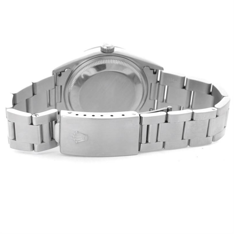 Rolex Date Stainless Steel Diamond Silver Dial Mens Watch 15200 SwissWatchExpo
