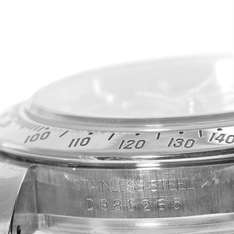 Rolex Cosmograph Daytona Black Dial Mens Stainless Steel Watch 116520 SwissWatchExpo