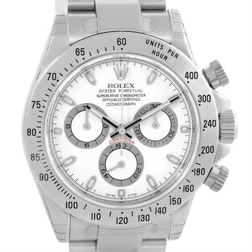 Photo of Rolex Cosmograph Daytona Steel White Dial Mens Watch 116520 Unworn