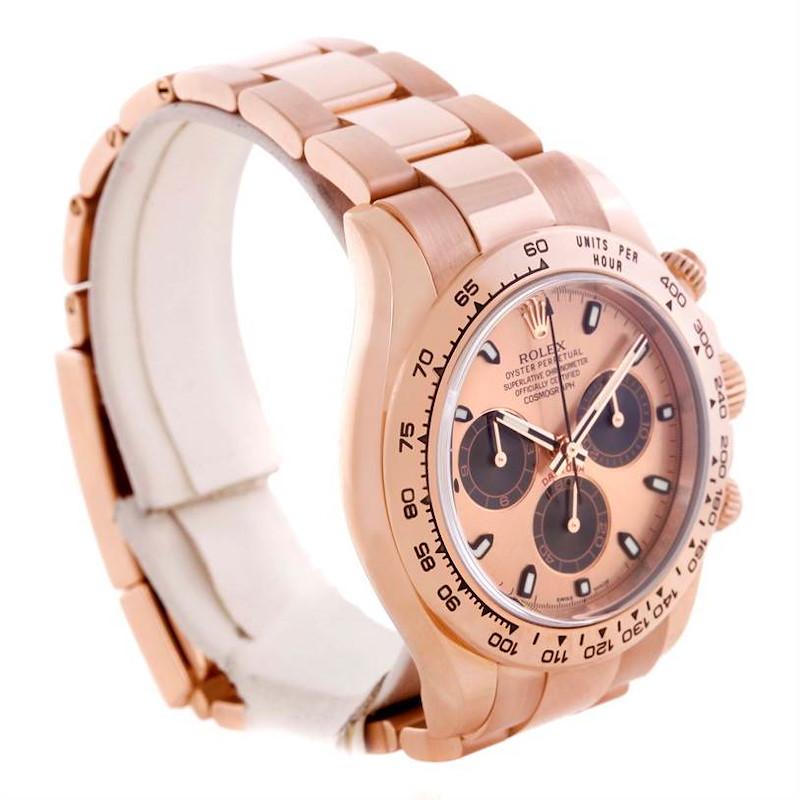 Rolex Cosmograph Daytona Everose 18K Rose Gold Watch 116505 SwissWatchExpo