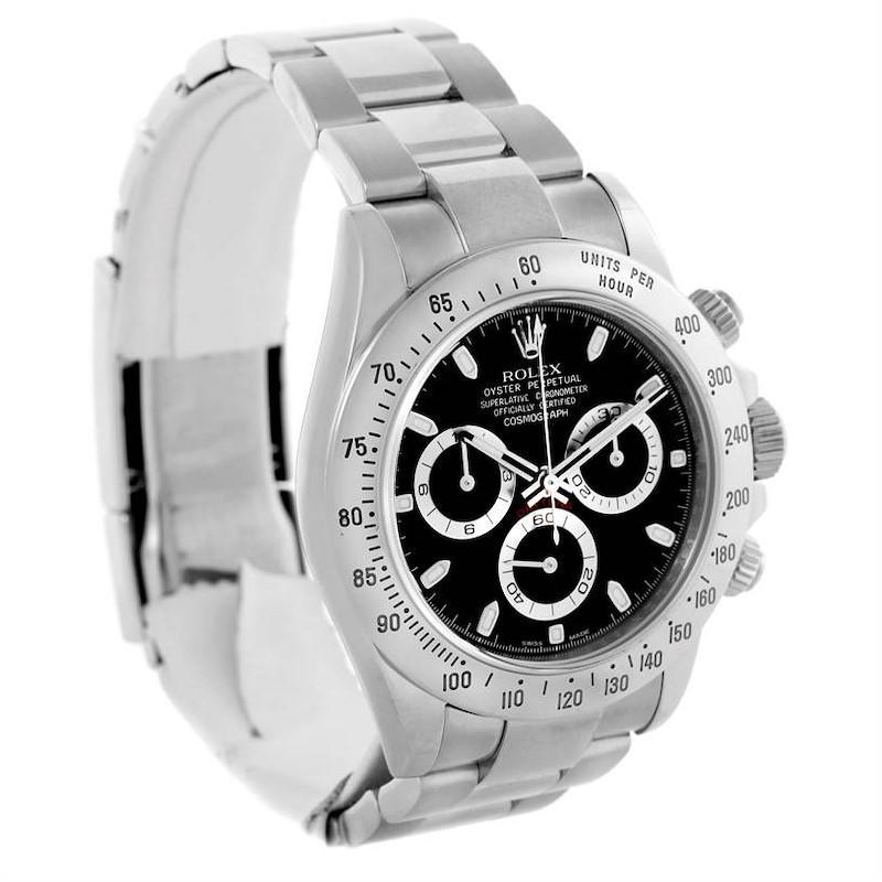 Rolex Daytona Stainless Steel Black Dial Chronograph Watch 116520 SwissWatchExpo