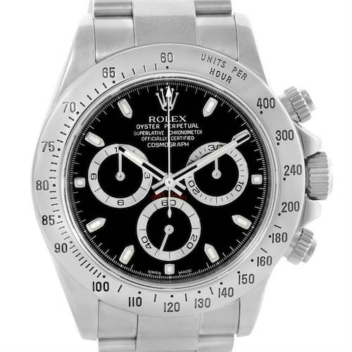 Photo of Rolex Daytona Stainless Steel Black Dial Chronograph Watch 116520