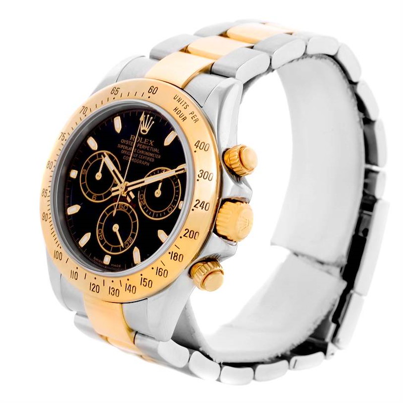 Rolex Cosmograph Daytona Stainless Steel 18K Yellow Gold Watch 116523 SwissWatchExpo