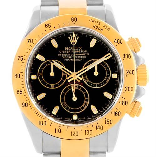 Photo of Rolex Cosmograph Daytona Stainless Steel 18K Yellow Gold Watch 116523