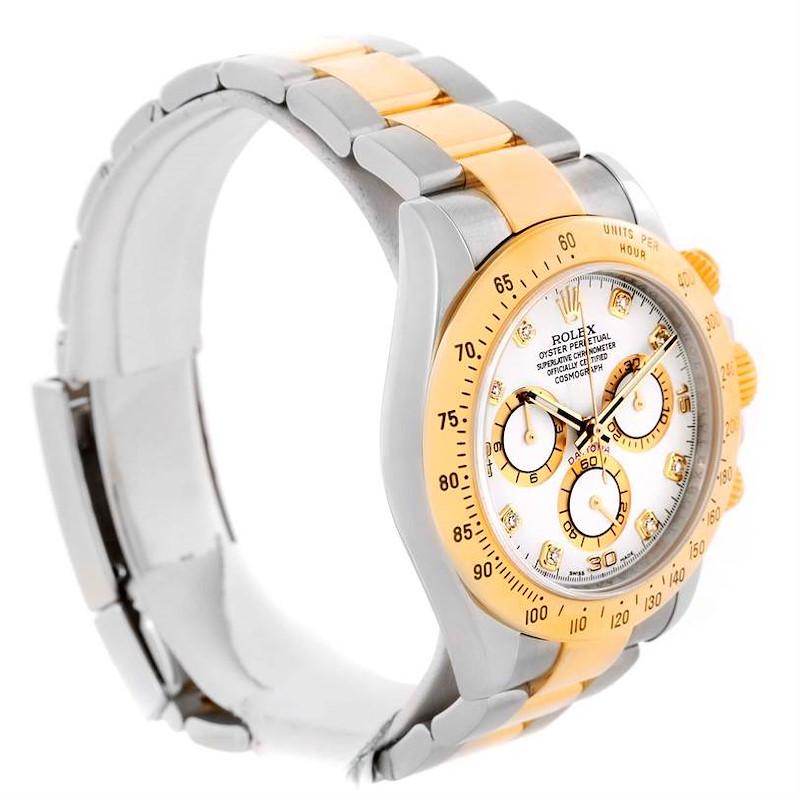 Rolex Cosmograph Daytona Steel 18K Yellow Gold Diamond Watch 116523 SwissWatchExpo