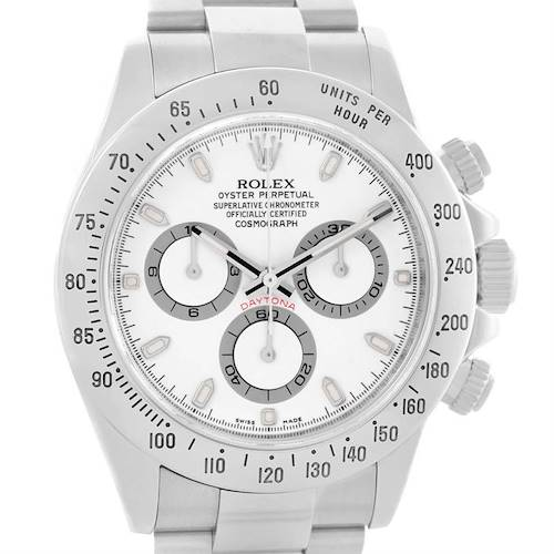 Photo of Rolex Cosmograph Daytona White Dial Steel Mens Watch 116520