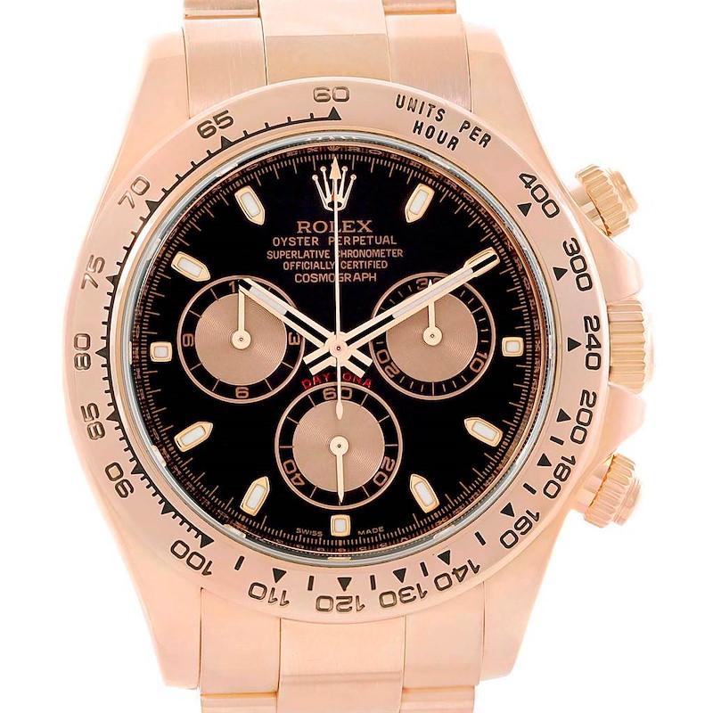 Rolex Cosmograph Daytona 18K Rose Gold Chronograph Watch 116505 SwissWatchExpo