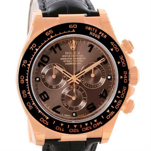 Photo of Rolex Cosmograph Daytona 18K Rose Gold Everose Watch 116515LN Unworn