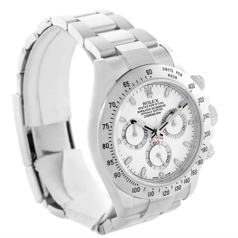 Rolex Cosmograph Daytona White Dial Steel Mens Watch 116520 Unworn SwissWatchExpo