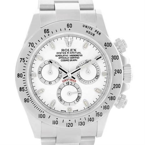 Photo of Rolex Cosmograph Daytona White Dial Steel Mens Watch 116520 Unworn