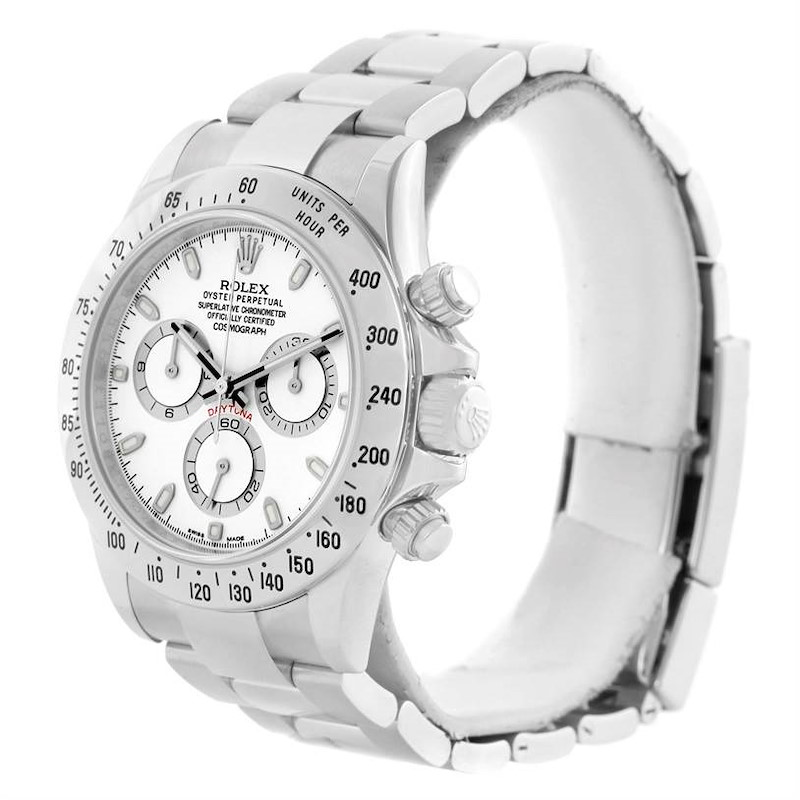 Rolex Cosmograph Daytona White Dial Steel Mens Watch 116520 Year 2007 SwissWatchExpo