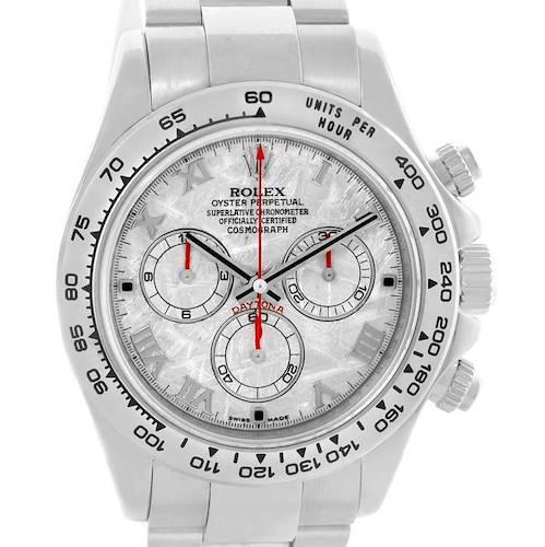 Photo of Rolex Cosmograph Daytona 18K White Gold Meteorite Dial Mens Watch 116509