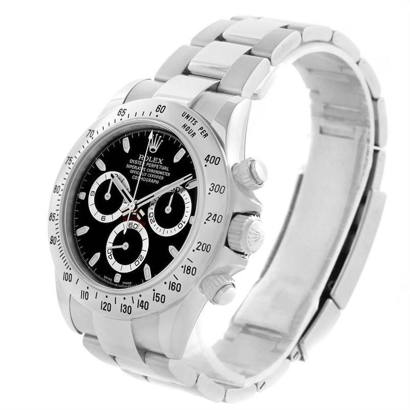 Rolex Daytona Stainless Steel Black Dial Watch 116520 Year 2016 SwissWatchExpo