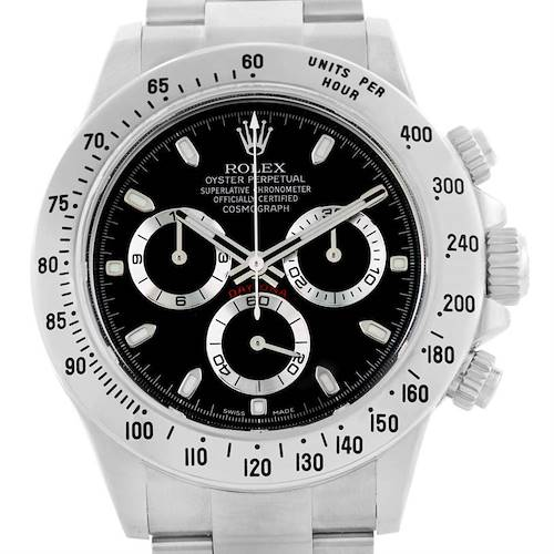 Photo of Rolex Daytona Stainless Steel Black Dial Watch 116520 Year 2016