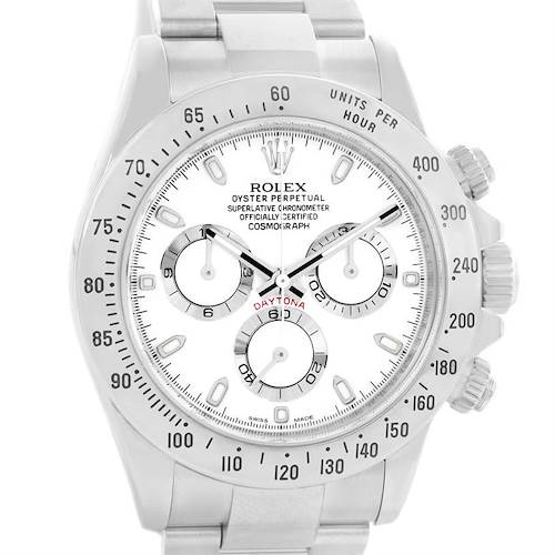 Photo of Rolex Cosmograph Daytona White Dial Chronograph Mens Watch 116520