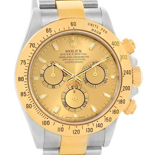 Photo of Rolex Cosmograph Daytona Stainless Steel 18K Yellow Gold Watch 116523