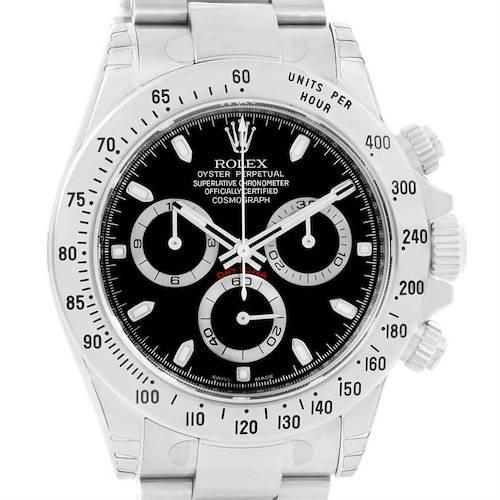 Photo of Rolex Cosmograph Daytona Black Dial Steel Mens Watch 116520 Unworn
