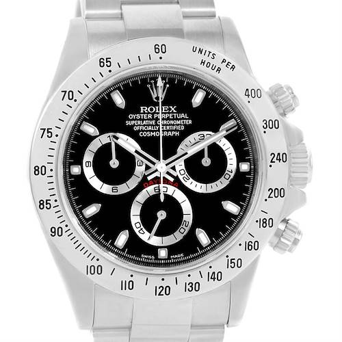 Photo of Rolex Daytona Stainless Steel Black Dial Watch 116520 Box Papers