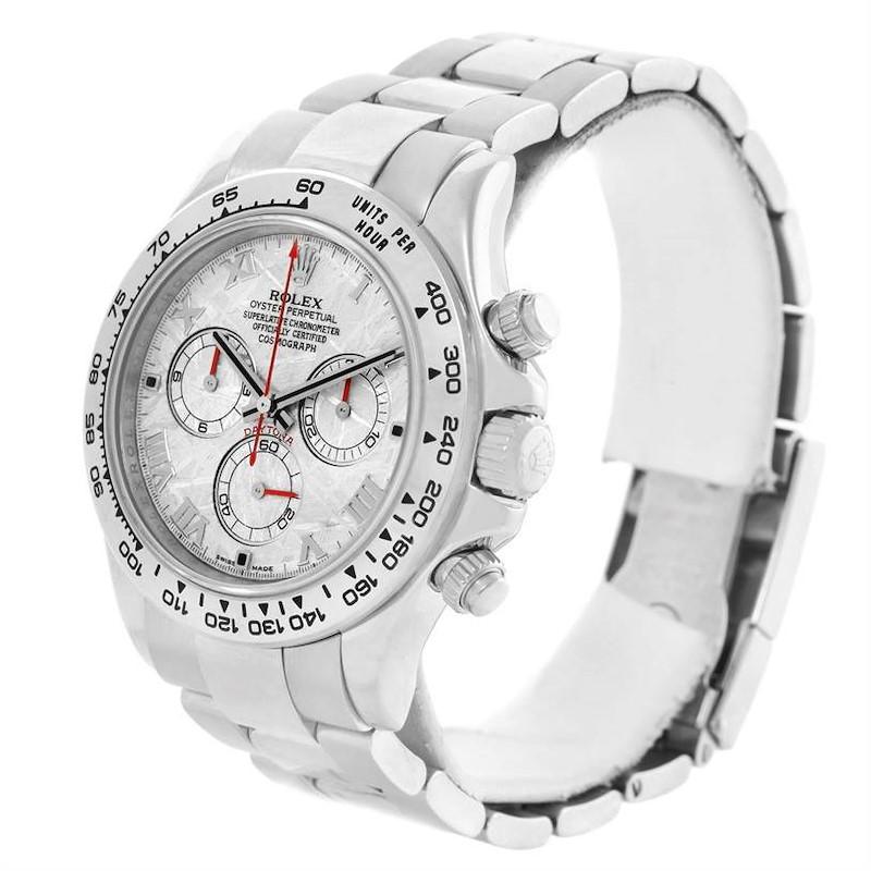 Rolex Cosmograph Daytona 18K White Gold Meteorite Dial Mens Watch 116509 SwissWatchExpo