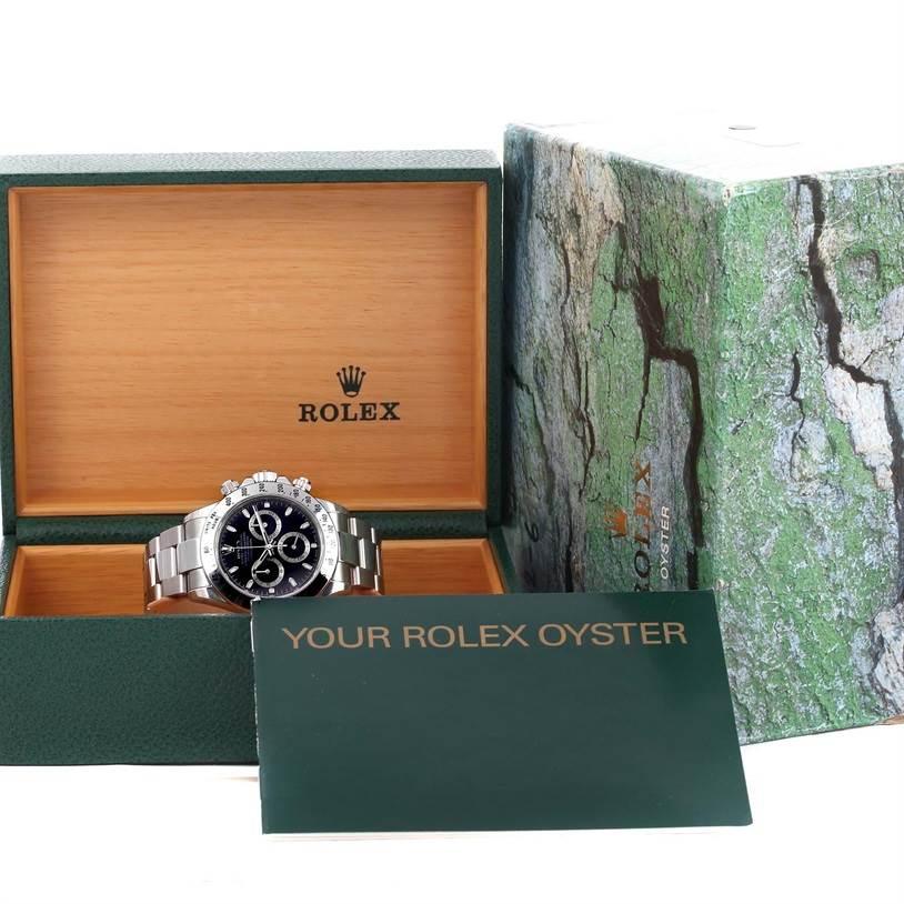 Rolex Cosmograph Daytona Black Dial Steel Mens Watch 116520 Unworn SwissWatchExpo