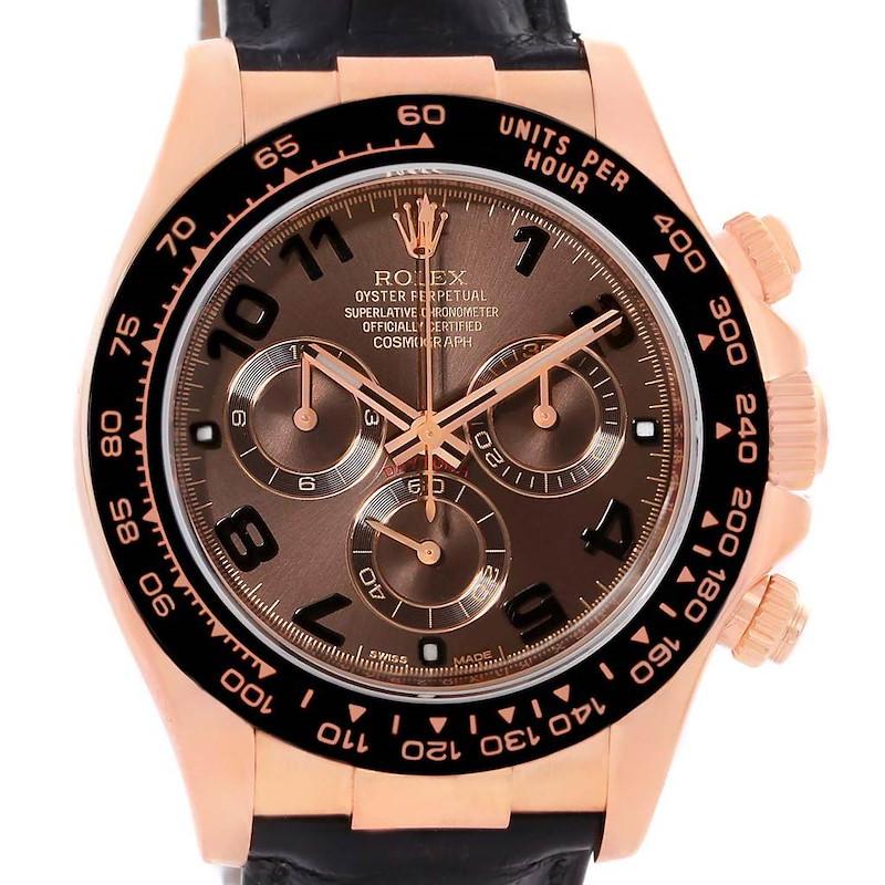 Rolex Cosmograph Daytona 18K Rose Gold Everose Watch 116515 Box Papers SwissWatchExpo