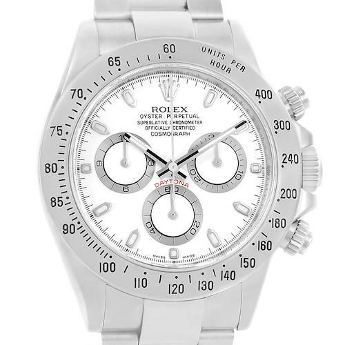 Photo of Rolex Cosmograph Daytona White Dial Chronograph Mens Watch 116520